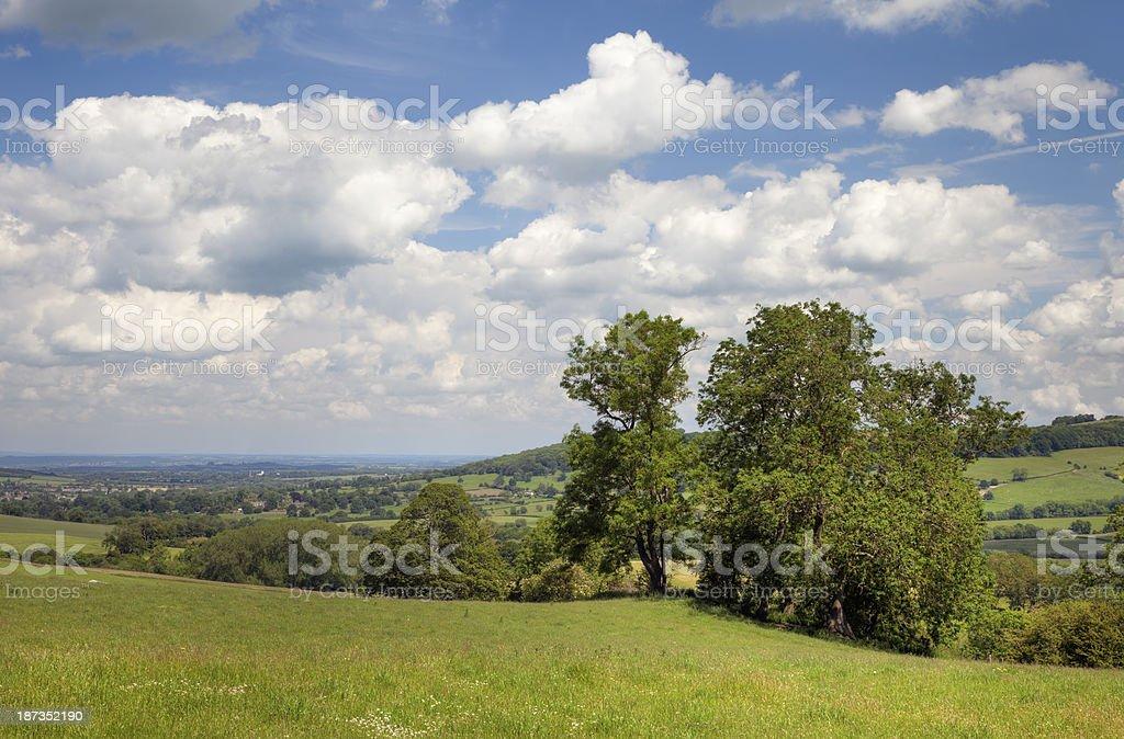 View towards Winchcombe stock photo