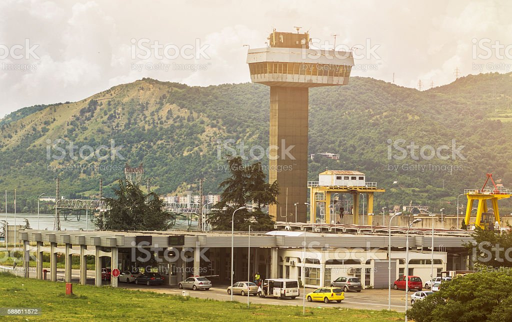 View Tower on Border checkpoint stock photo