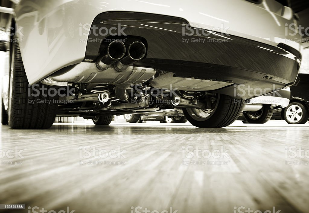 view under the car royalty-free stock photo