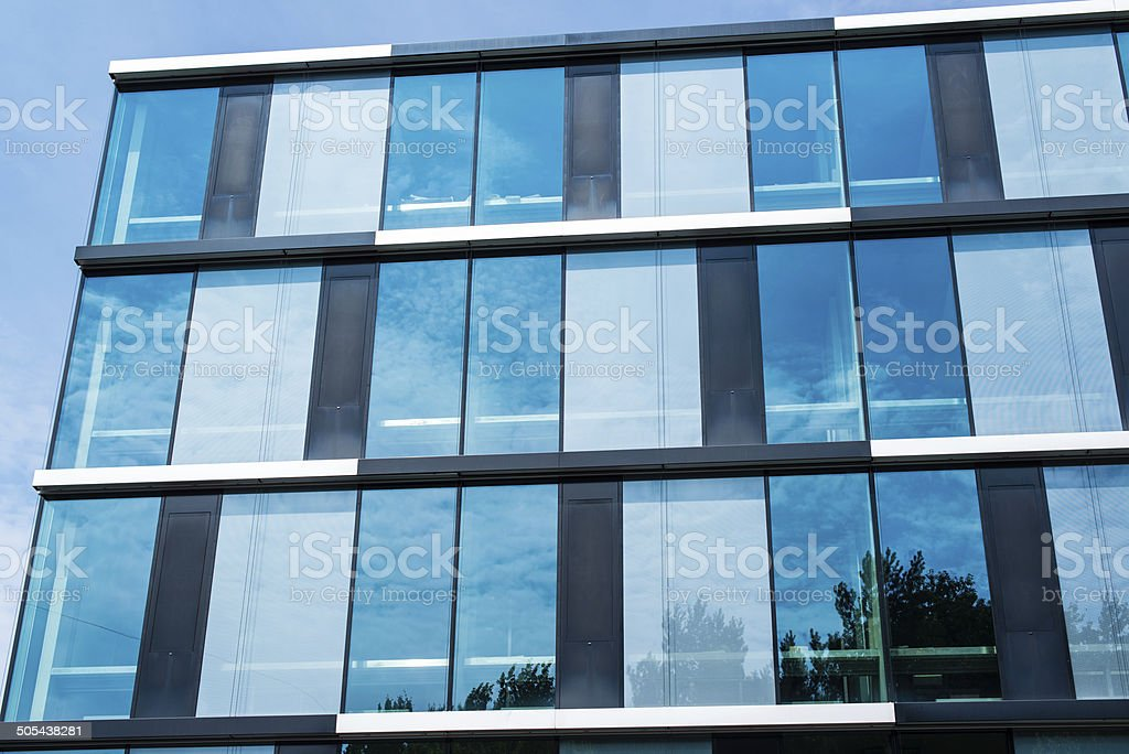 View up on modern office building stock photo