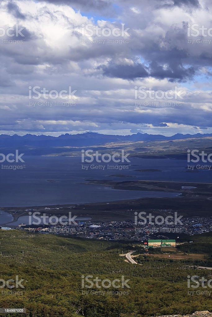 View Upon Ushuaia royalty-free stock photo