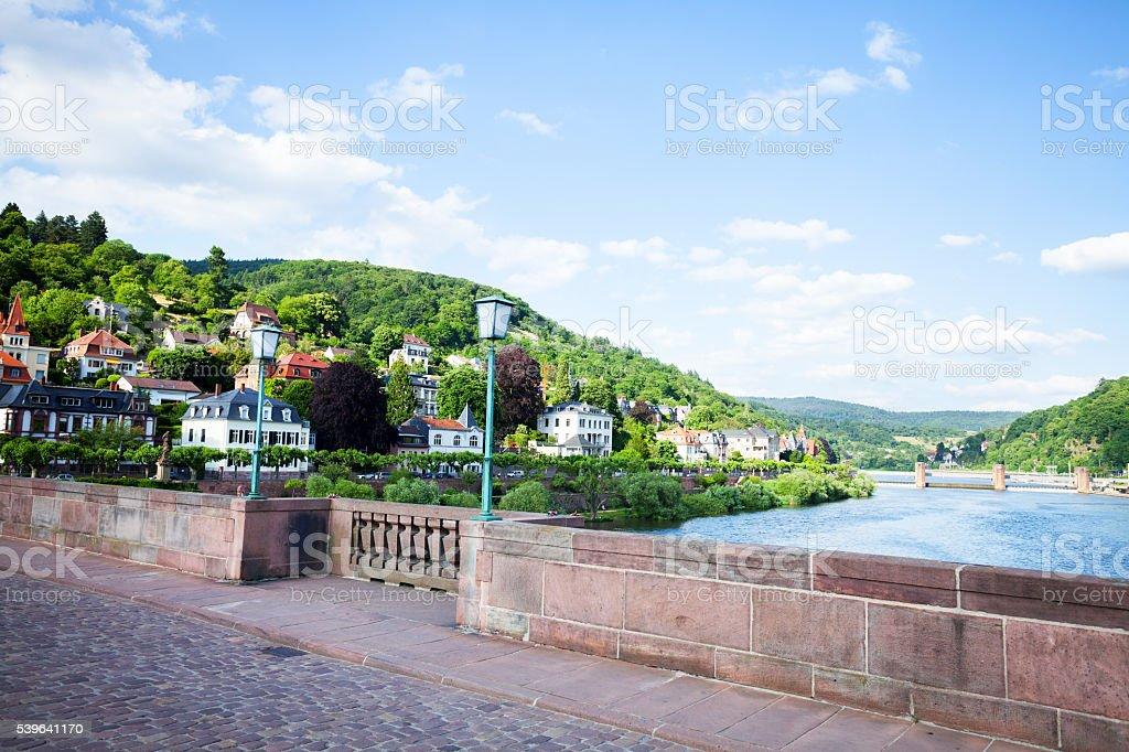 View upstream Neckar stock photo