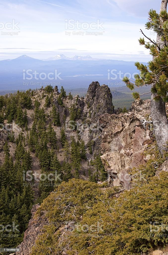 View west from Paulina Peak, Oregon stock photo