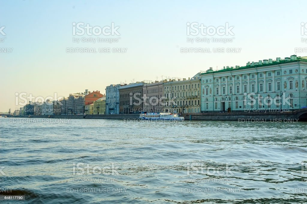 View Winter Palace square in Saint Petersburg stock photo