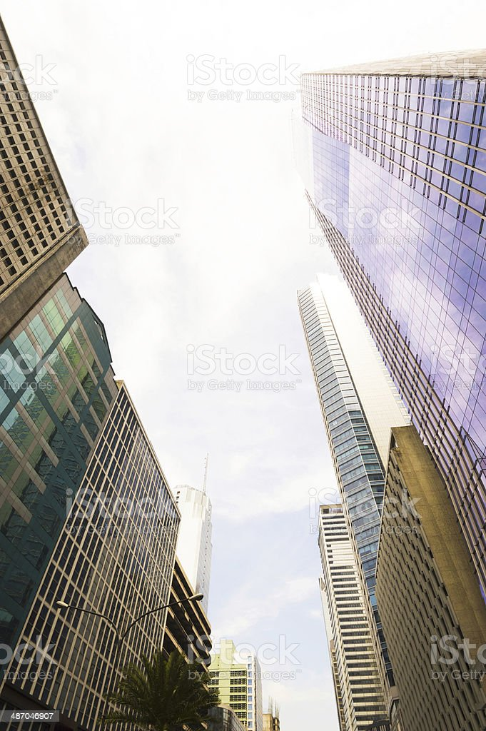 View with the tall buildings in Makati stock photo
