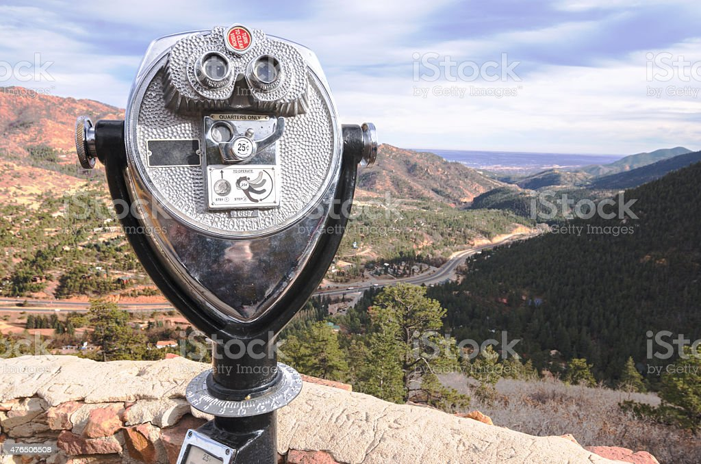 Viewer Tower in Colorado Springs stock photo
