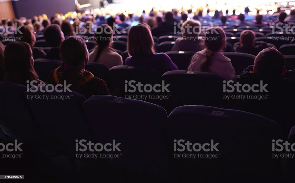 Viewers watching the show. stock photo