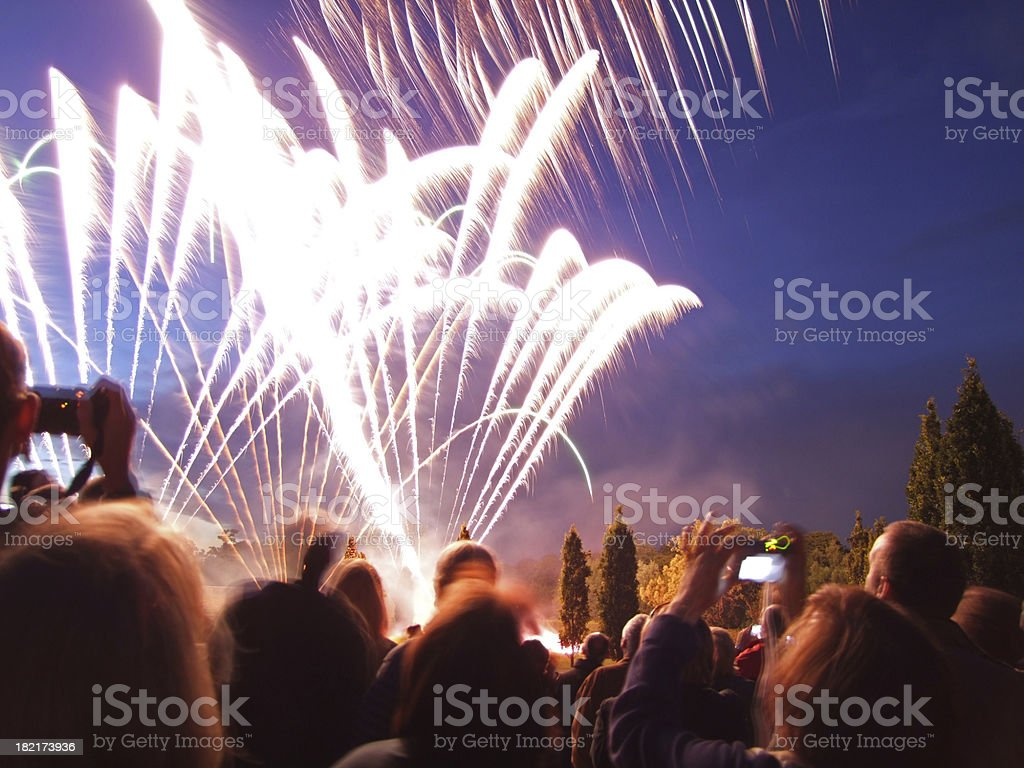 Viewing Fireworks royalty-free stock photo