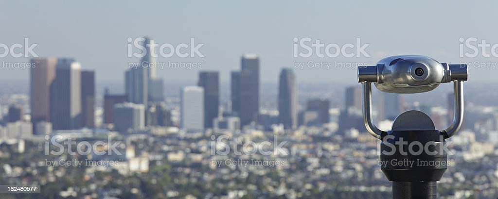 Viewing Los Angeles stock photo