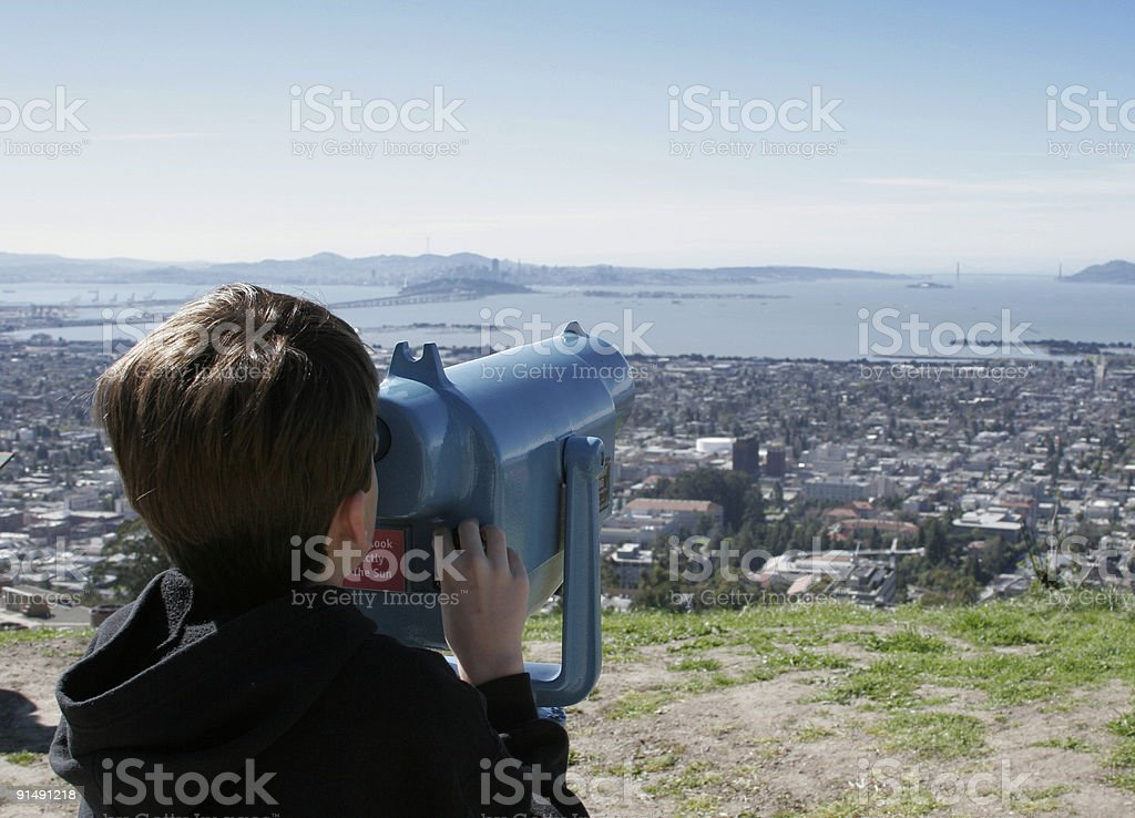 Viewing stock photo