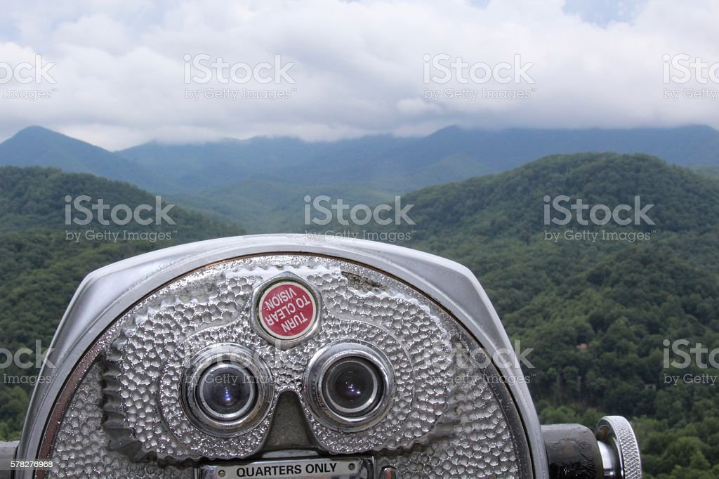 Viewing the Mountains stock photo