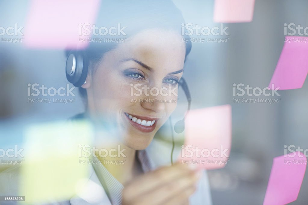 Viewing the notes royalty-free stock photo