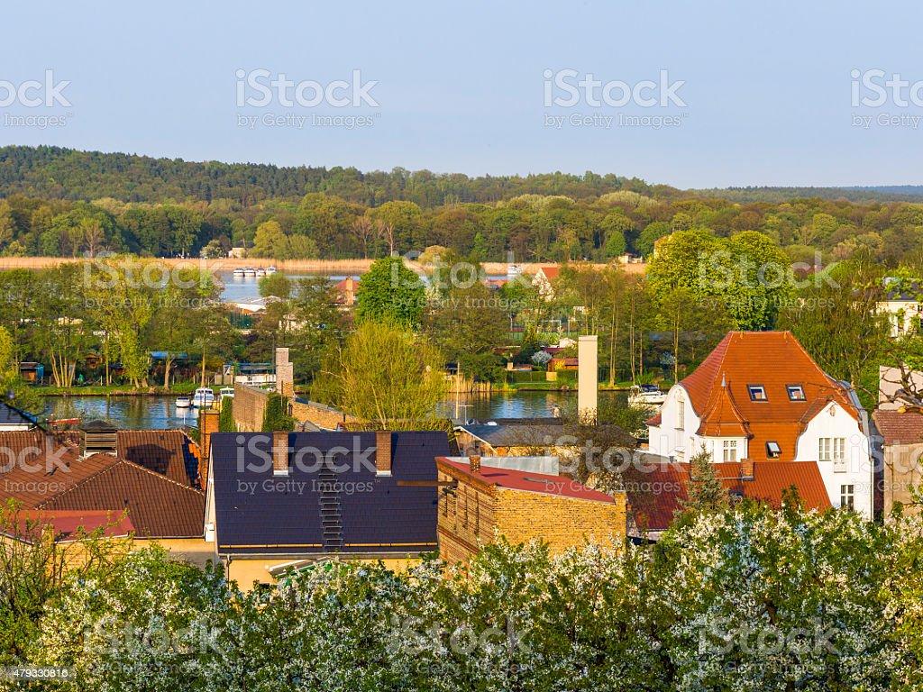 Viewo over Werder near Berlin stock photo