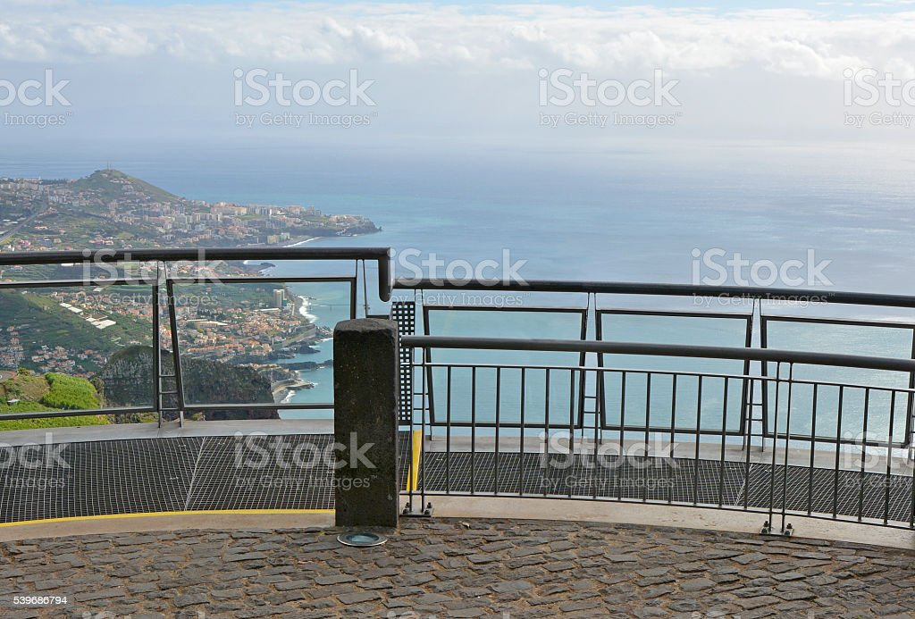 Viewpoint at Cabo Girao in Madeira, Portugal stock photo