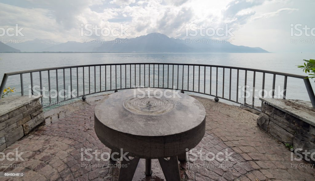 Viewpoint at Montreux in Switzerland stock photo