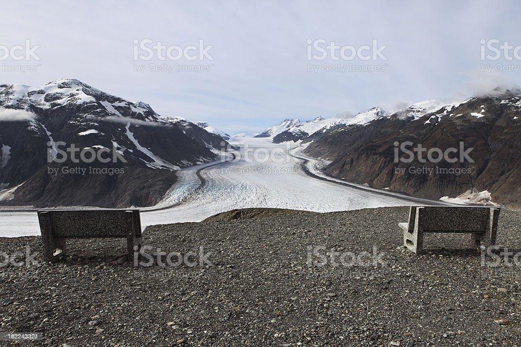viewpoint at salmon glacier stock photo