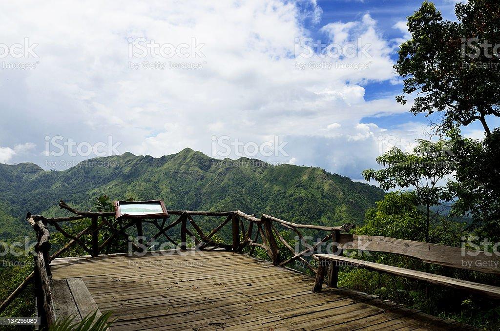Viewpoint at Thong Pha Phum National Park. royalty-free stock photo