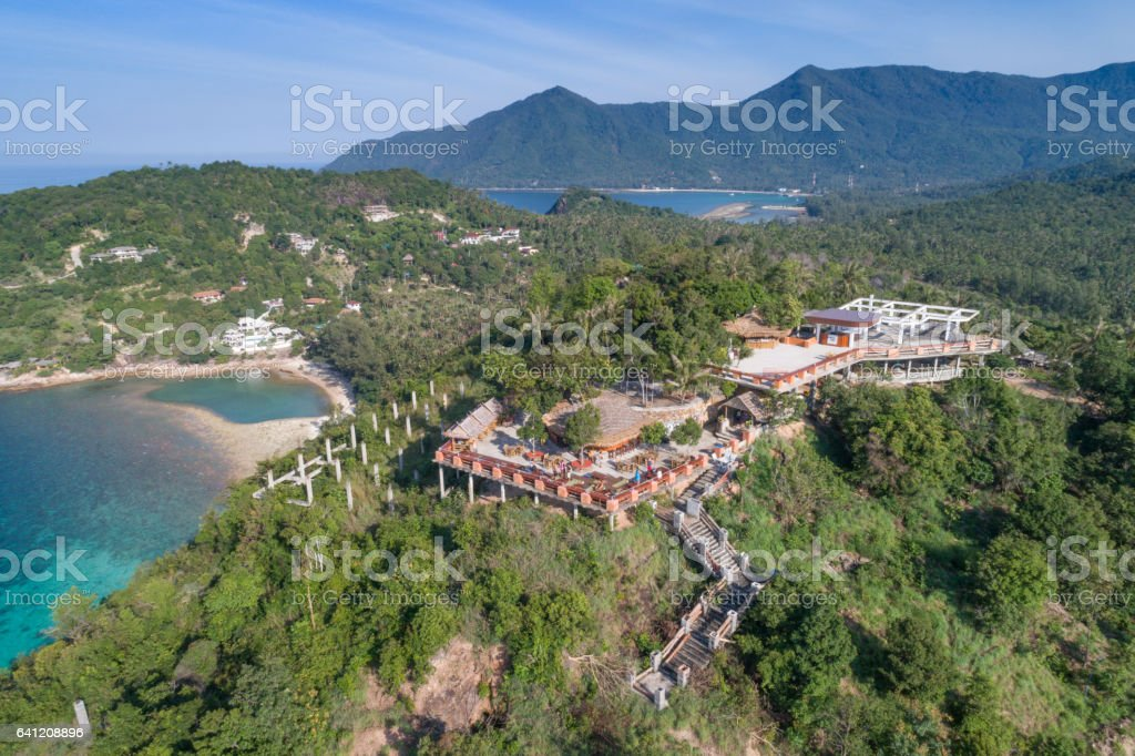 Viewpoint Bars up in the Mountains, Koh Phangan, Thailand stock photo