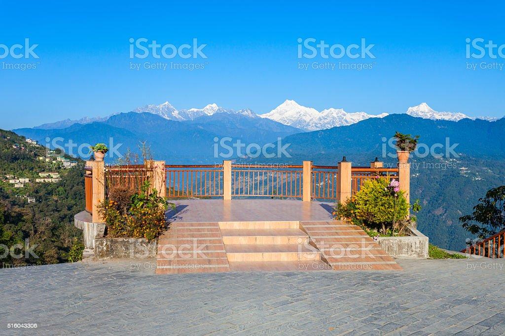 Viewpoint in Gangtok stock photo
