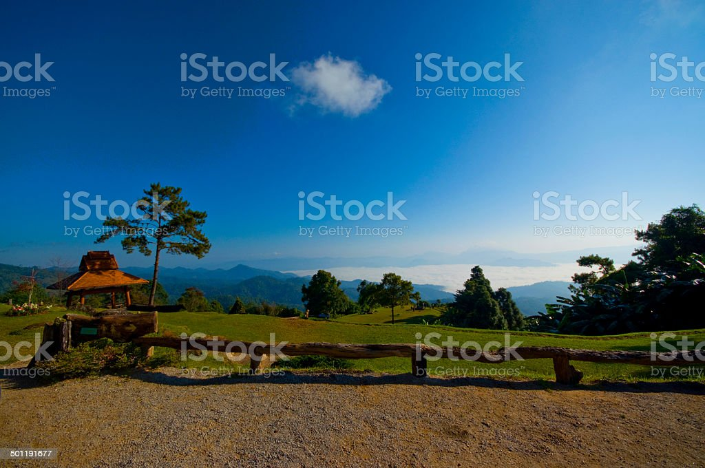 Viewpoint in national park. Huai Nam Dang stock photo