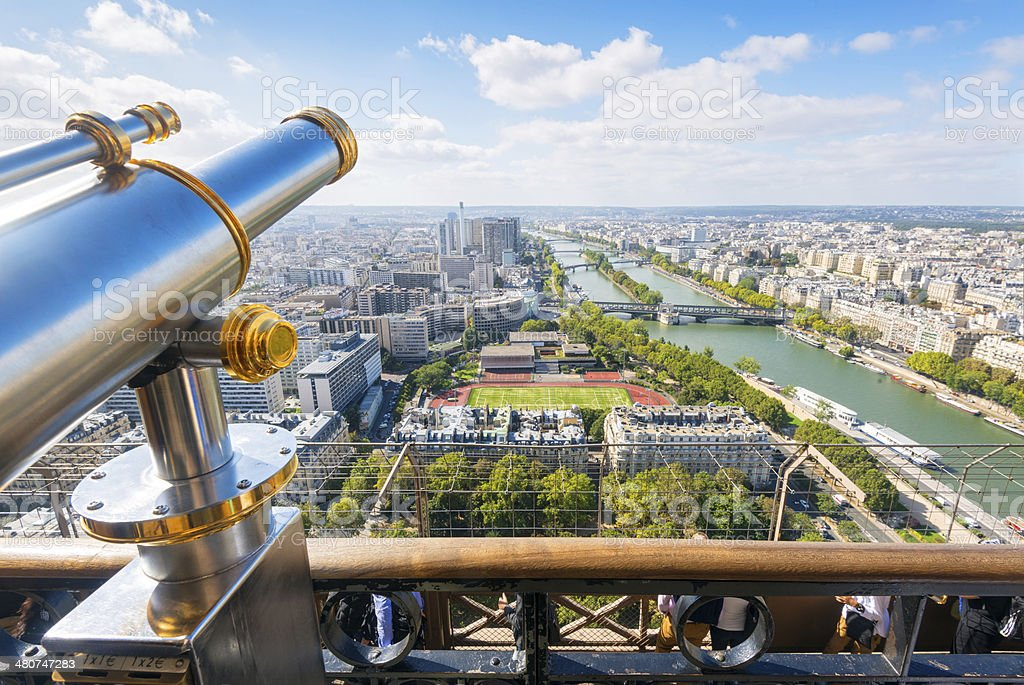 Viewpoint in the Eiffel Tower, Paris stock photo
