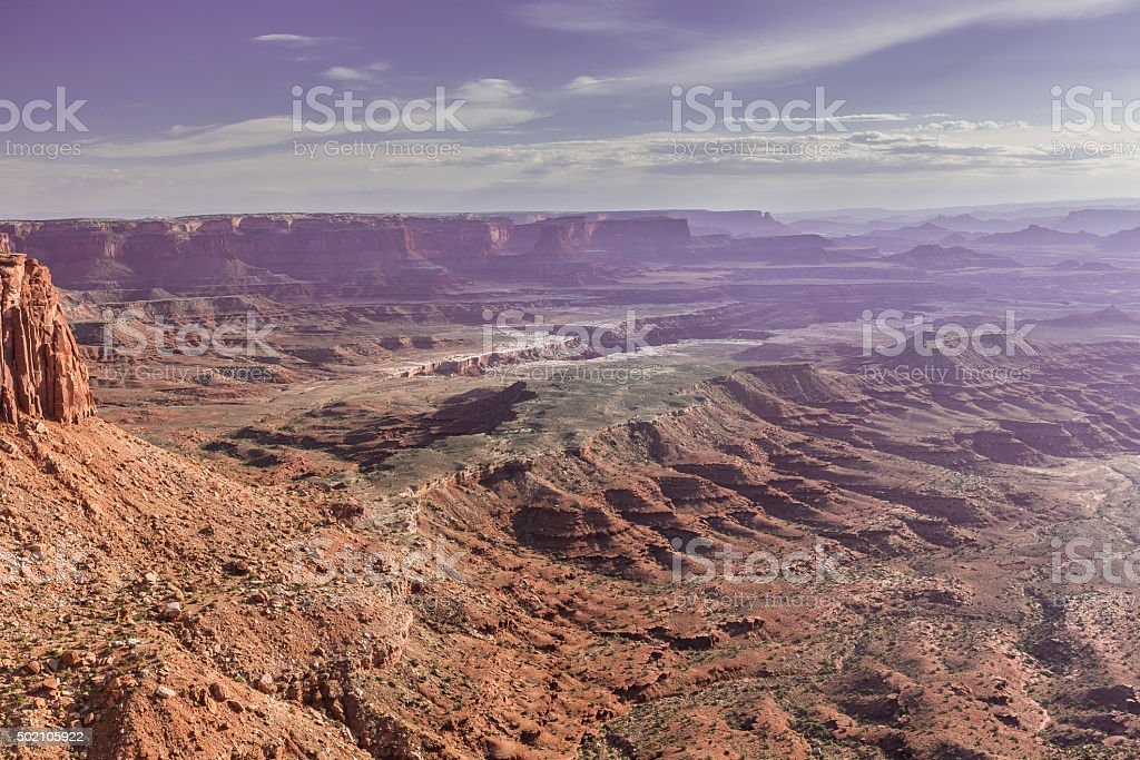 Viewpoint Island in the Sky District in Canyonlands National Park stock photo