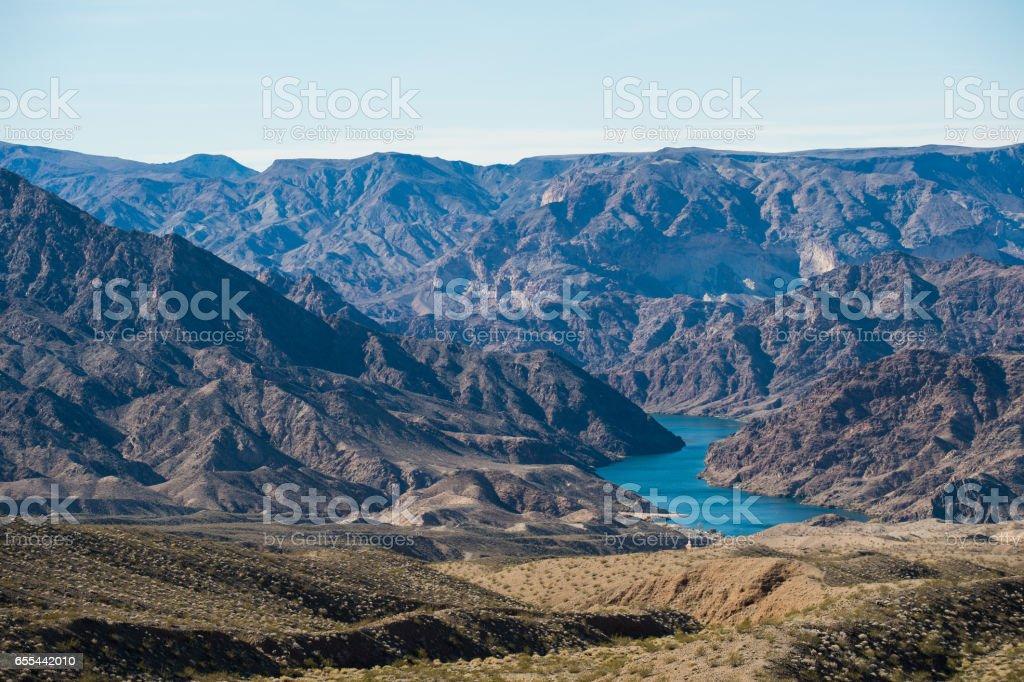 Viewpoint of mountains range stock photo
