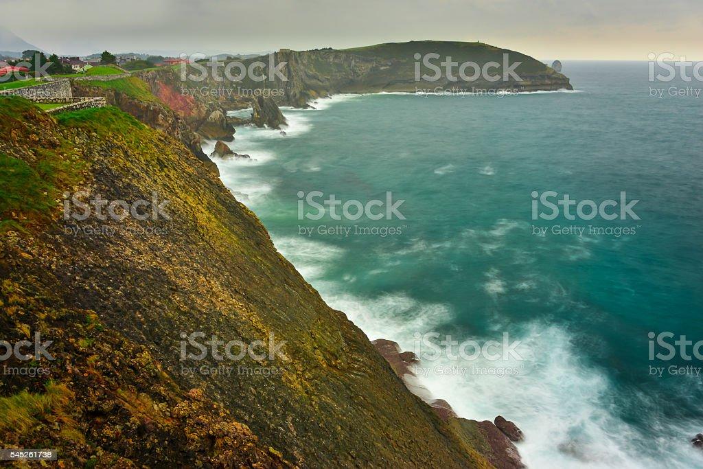 Viewpoint of San Pedro, Llanes, Asturias stock photo