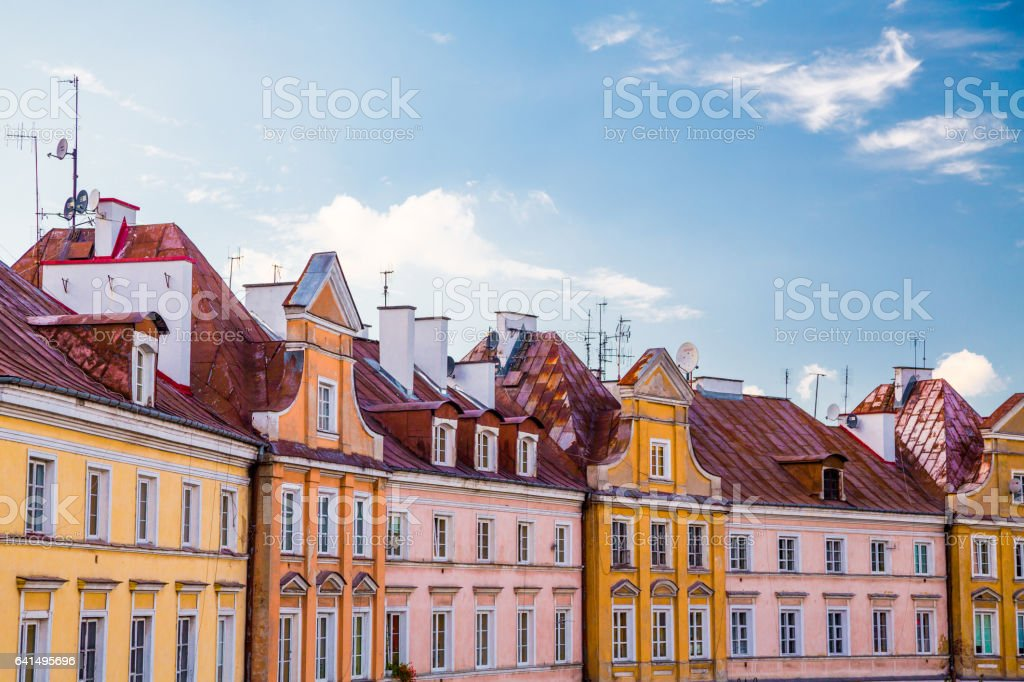 A viewpoint over the city of Lublin, Poland stock photo