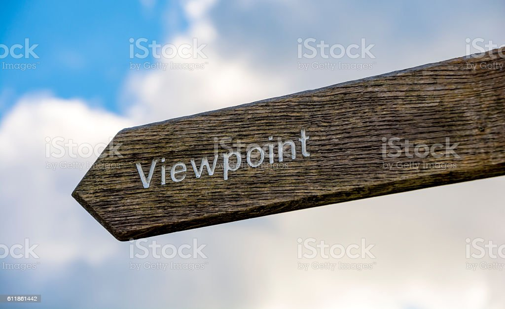 Viewpoint Sign Post Left stock photo