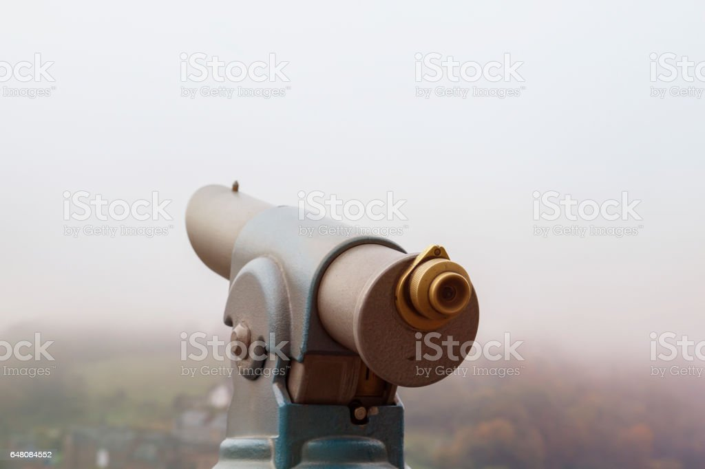 viewpoint telescope stock photo