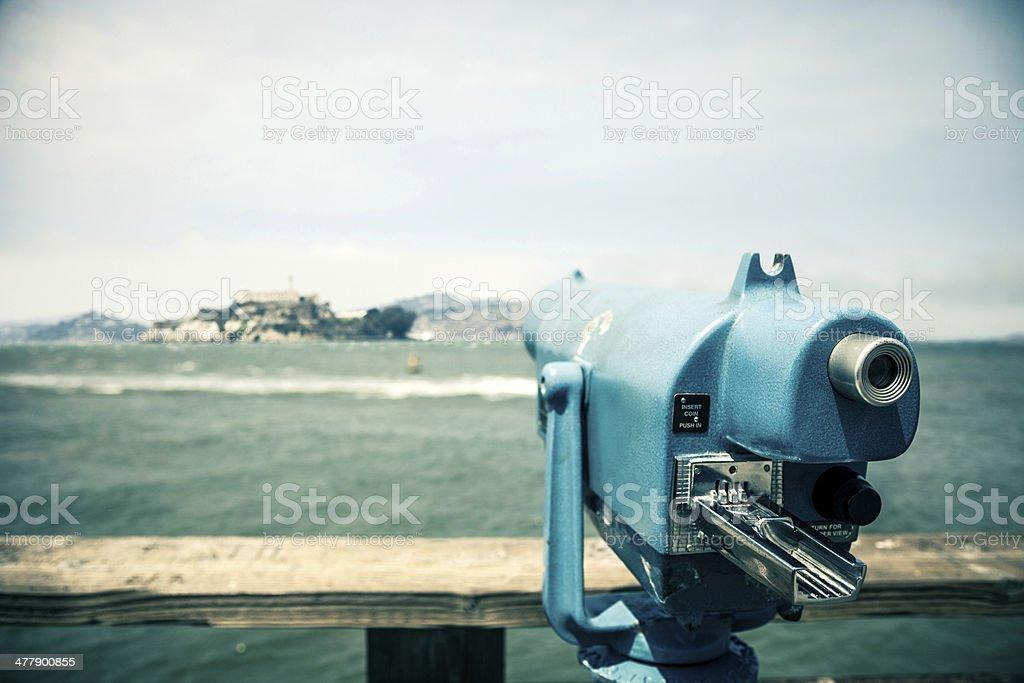 Viewpoint to Alcatraz Island stock photo
