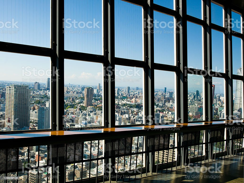 Viewpoint Tokyo Tower Skyline royalty-free stock photo