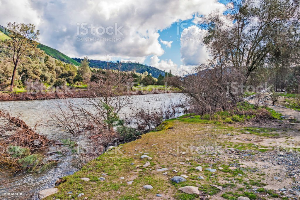 Views American River After Flooding stock photo