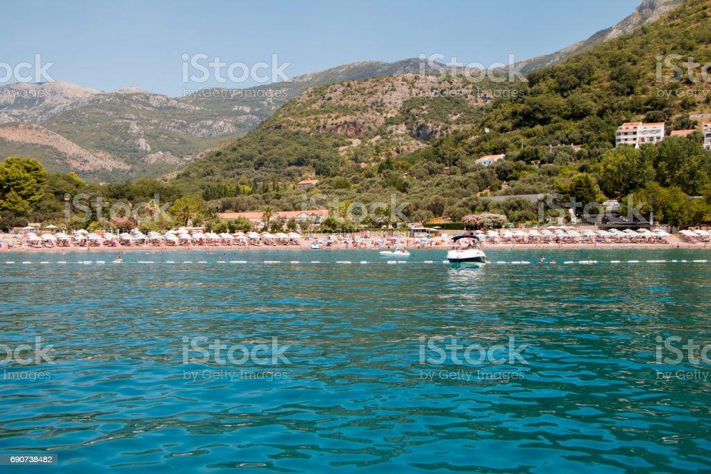 views beach in Budva stock photo