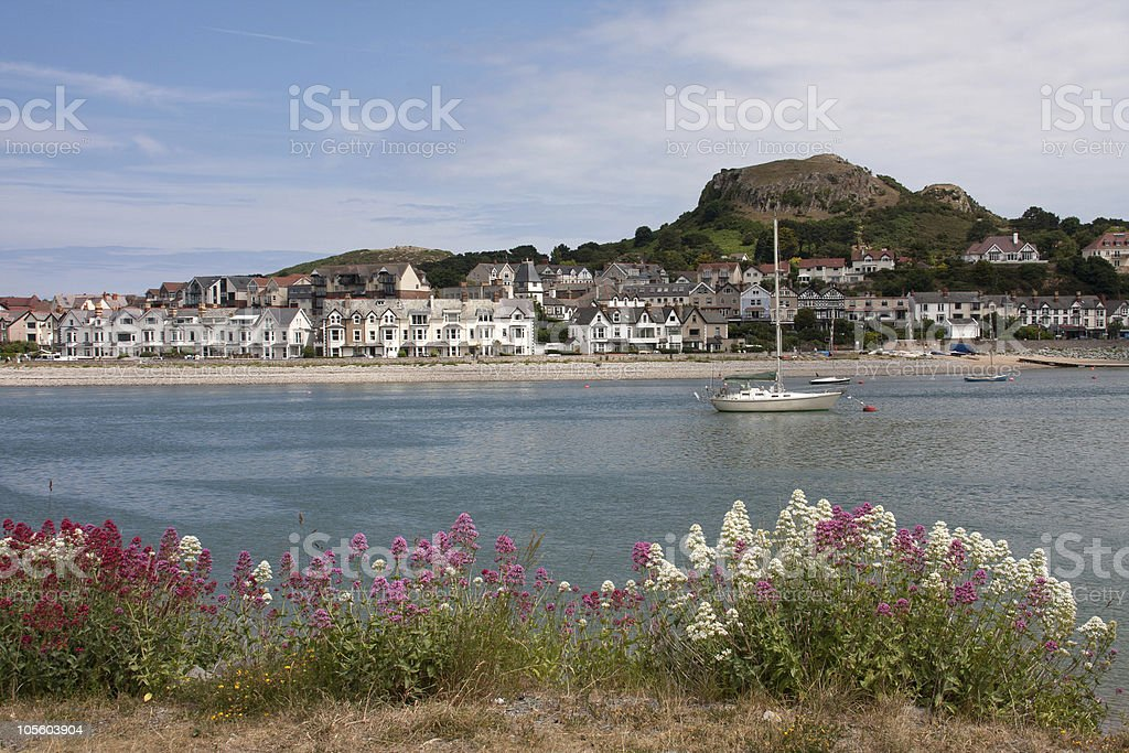 Views from Conwy Marina stock photo