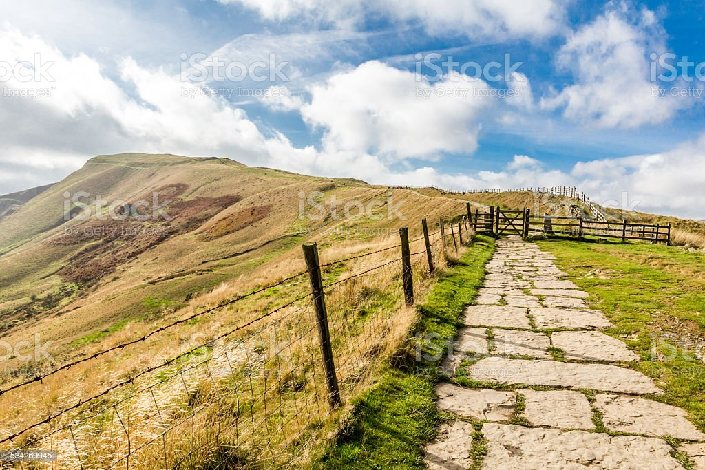 Views From Mam Tor Derbyshire stock photo