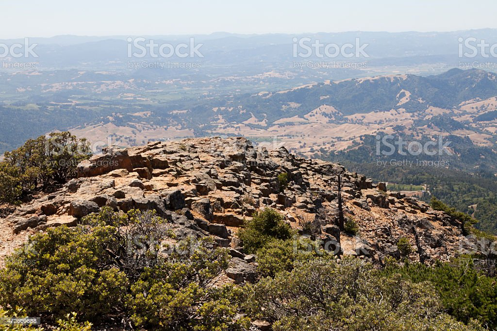 Views from Mount Saint Helena in California stock photo