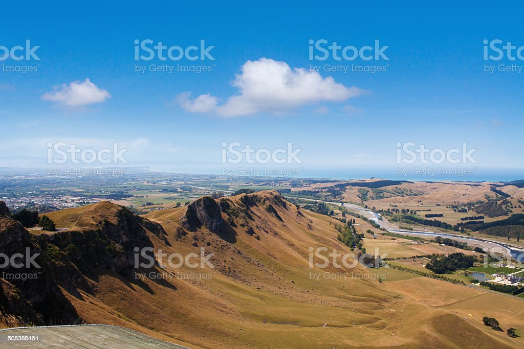 Views from Te Mata Peak, Hawkes Bay, New Zealand stock photo