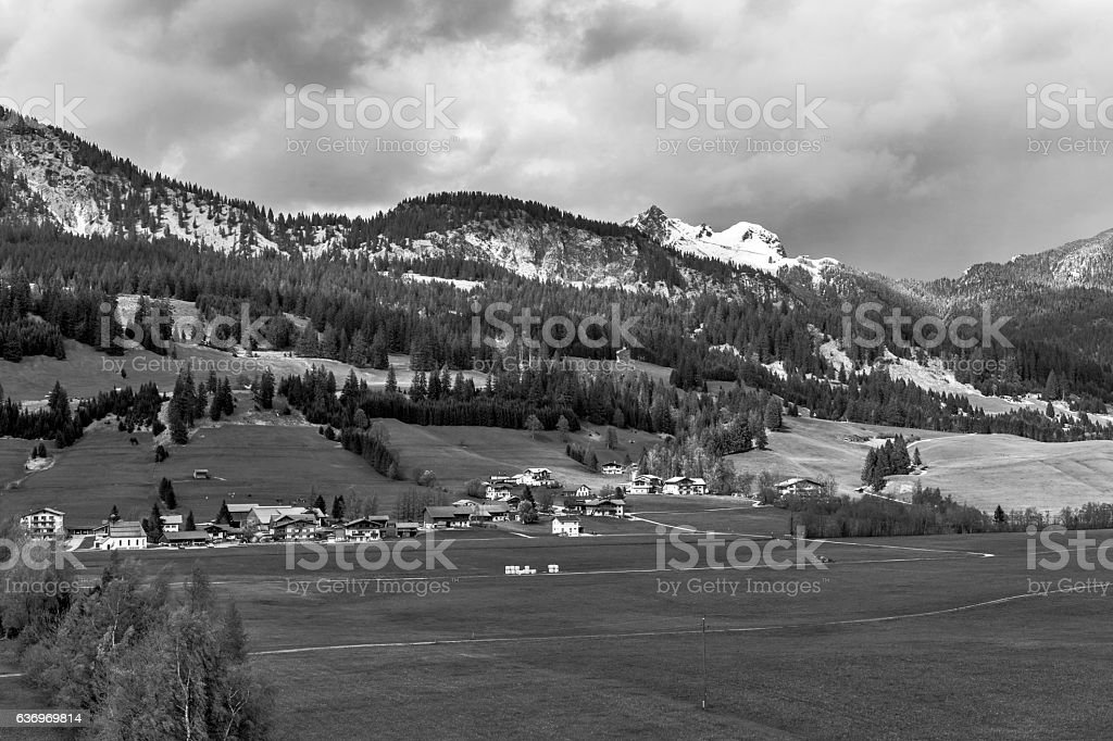 Views from the Tannheimer Tal stock photo