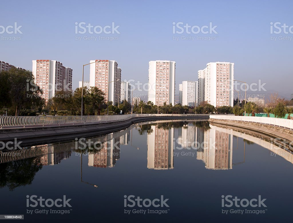 Views Of Blocks Through The Canal royalty-free stock photo