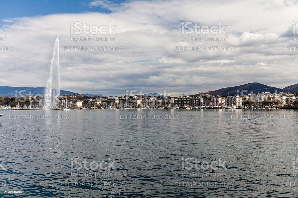 Views of Geneva on April 11, 2015 stock photo