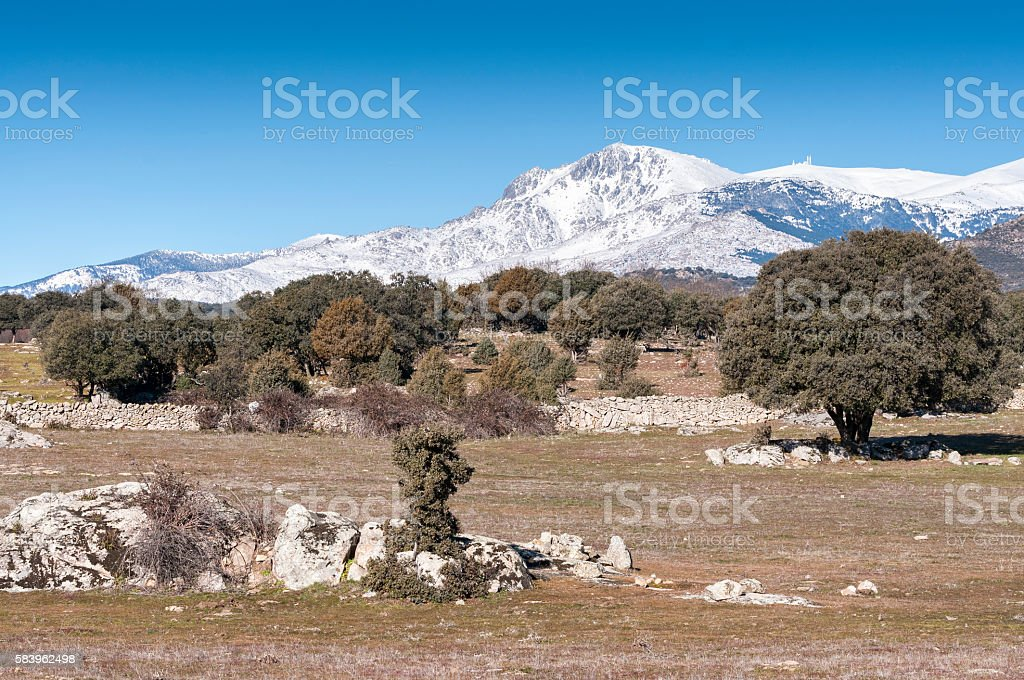 Views of Guadarrama Mountains, In Madrid Province, Spain stock photo