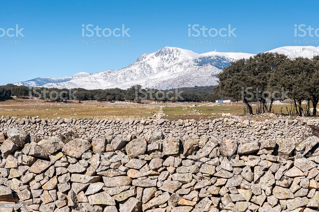Views of Guadarrama Mountains stock photo