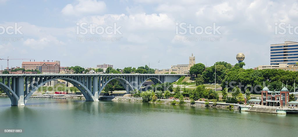Views of Knoxville Tennessee downtown on sunny day stock photo