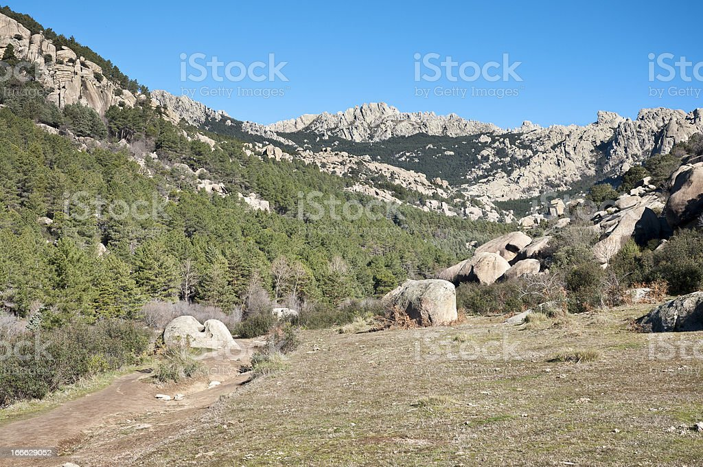 Views of La Pedriza, Madrid, Spain. stock photo
