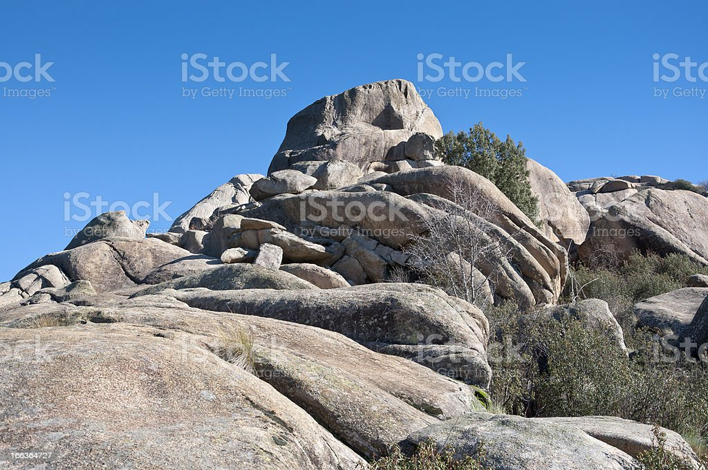 Views of La Pedriza stock photo