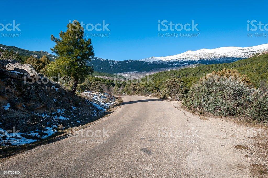 Views of La Pedriza stock photo
