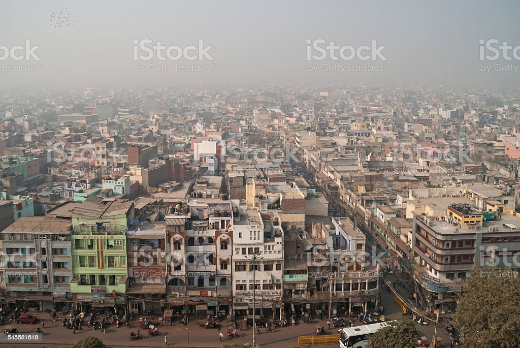 Views of new Delhi, India. stock photo