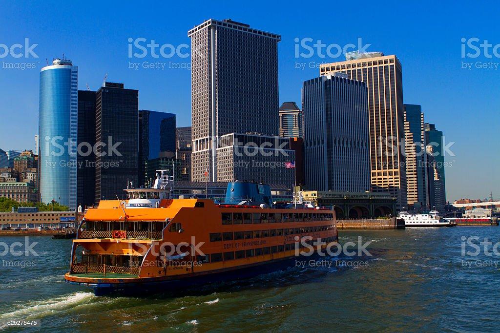 Views of New York City, USA. Staten Island Ferry. stock photo